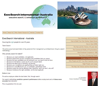 The ExecSearch International Australia website is at www.execsearch.com.au